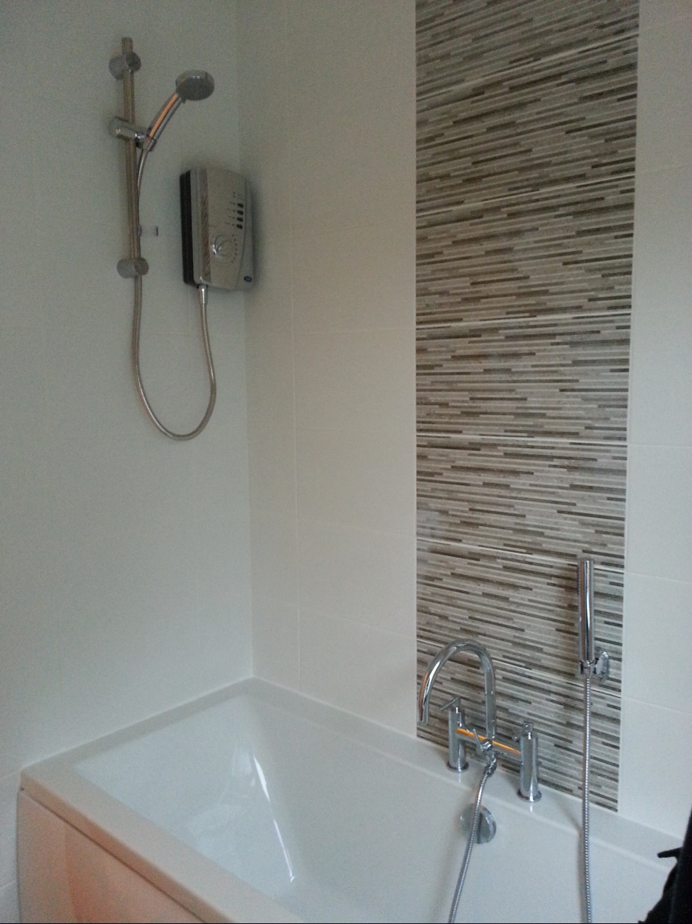 Feature Wall Tile Ideas Of Complete Re Fit Of A Bathroom